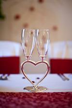 naše vysněné skleničky na novomanželský přípitek