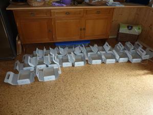 Krabičky připravené na výslužky