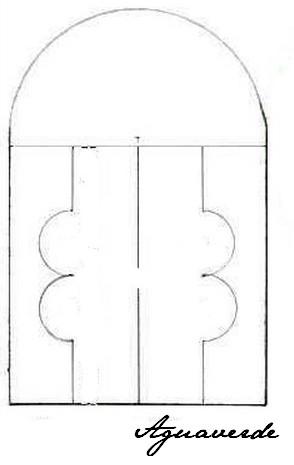 Hand made by Agu - šablona na obkreslení...já si ji vytiskla 9x na jeden papír :-)