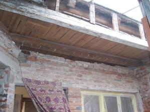 Stržený strop na verandě.