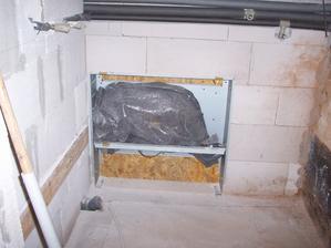Technická místnost - rozvody podlahového topení
