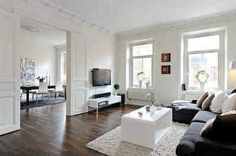 Obývací pokoj ( volila bych alespoň barevné polštářky, nebo jinou dekoraci)