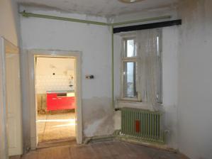 Dveře se zazdí a z okna budou dveře na verandu z kuchyně+obýváku.