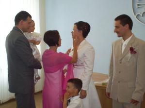 gratulanti - najstarší brat so ženou a deťmi