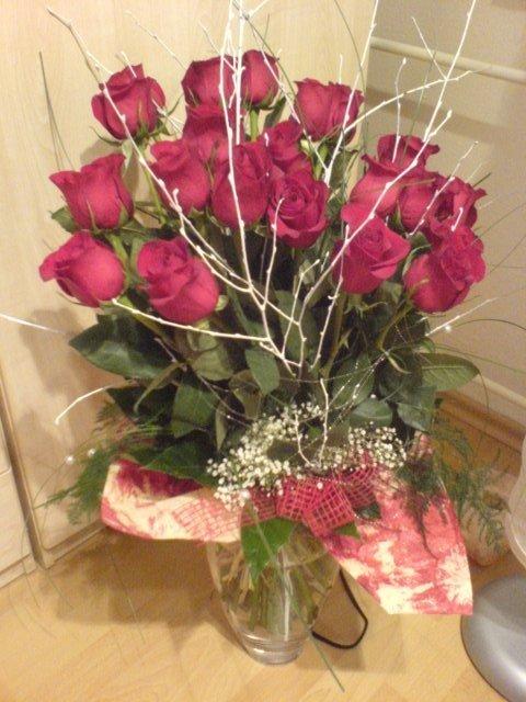 Andrejka a Števko - ako to dopadlo.. - Zásnubná kytica - 21 ruží