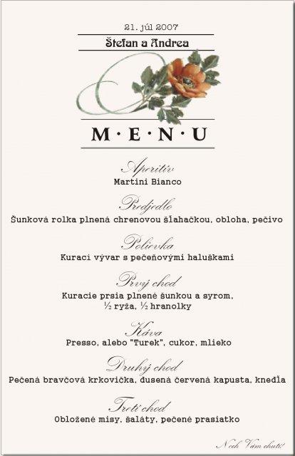 Andrejka a Števko - ako to dopadlo.. - Vymysleli sme si menu.