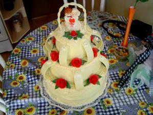 Naša torta - vďaka Gabika.
