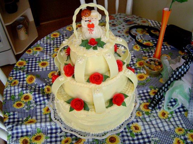 Andrea{{_AND_}}Štefan Šprochoví - Naša torta - vďaka Gabika.
