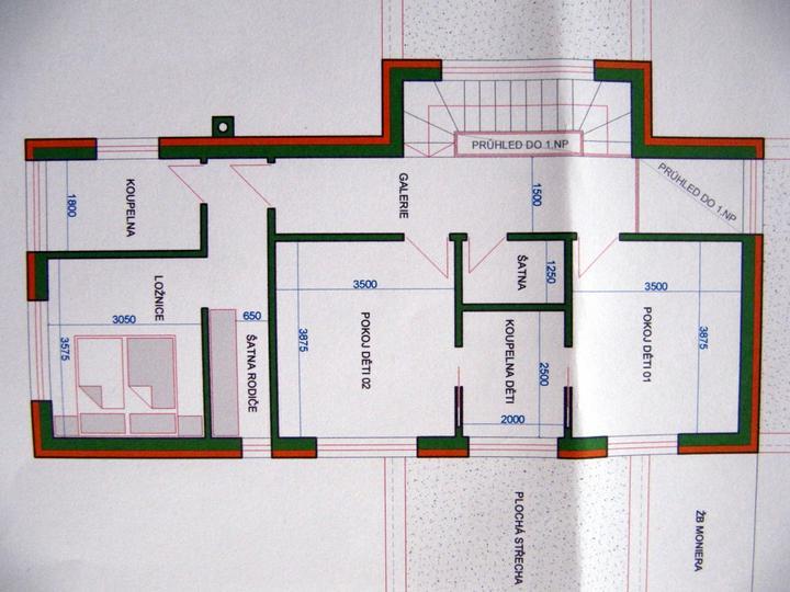 Co by, kdyby...... - horní patro je jisté - líbí se mi pokoje dětí spojené koupelnou a naše oddělená část