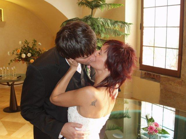 Kristýna{{_AND_}}A Robert - novomaželská pusinka....nechala jsem se unést