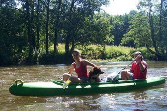 Naše skvělá posádka - Ota, já a Rocky :-)