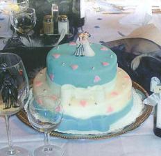 náš zvláštní svatební dort :-)