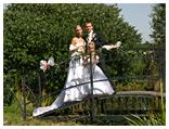 Na tomto mostu se svatebčané vždycky vyfotí, protože je to děsně romantické ;-)