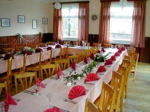 tady bude hostina - hotel Kavka na Malé Skále.