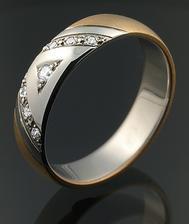 Snubní prsten, pro něj bez kamínků - objednáno