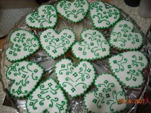 zelene sladke darceky pre hosti