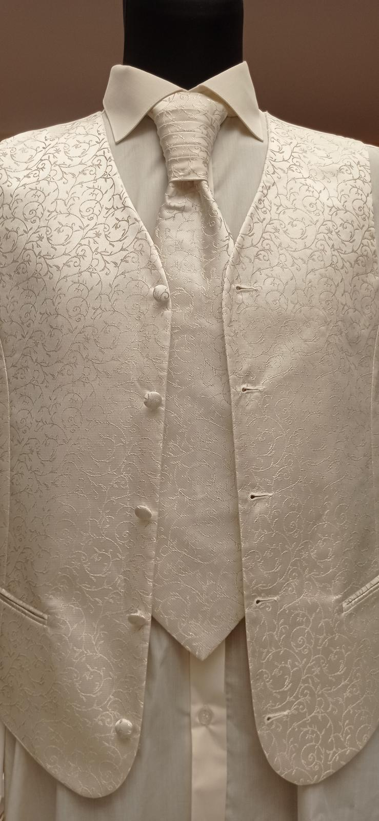 set kravata, vesta, vreckouka - Obrázok č. 1