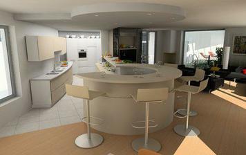 podhled v kuchyni