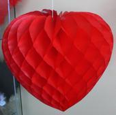 Skladacie srdce z papiera na zavesenie,
