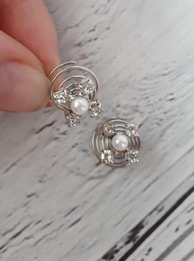 Špirálky do vlasov s perličkou, top stav 10ks  - Obrázok č. 2