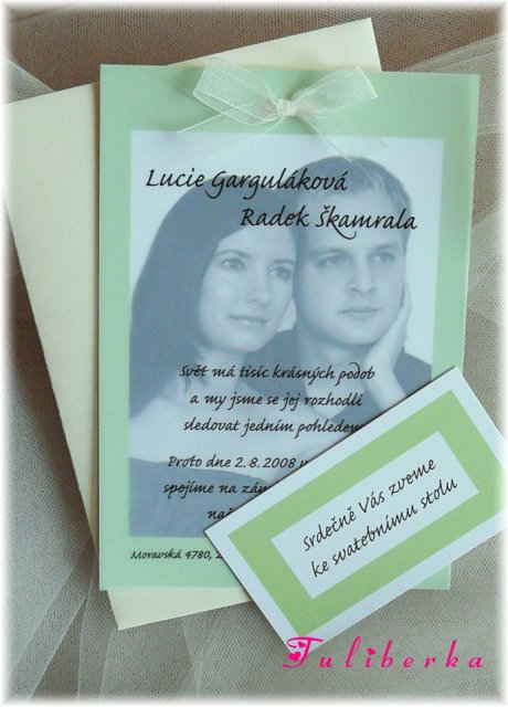 Lucie & Radek ♥2.8.2008♥ - oznámení je na světě, Ivuško, moc děkuju