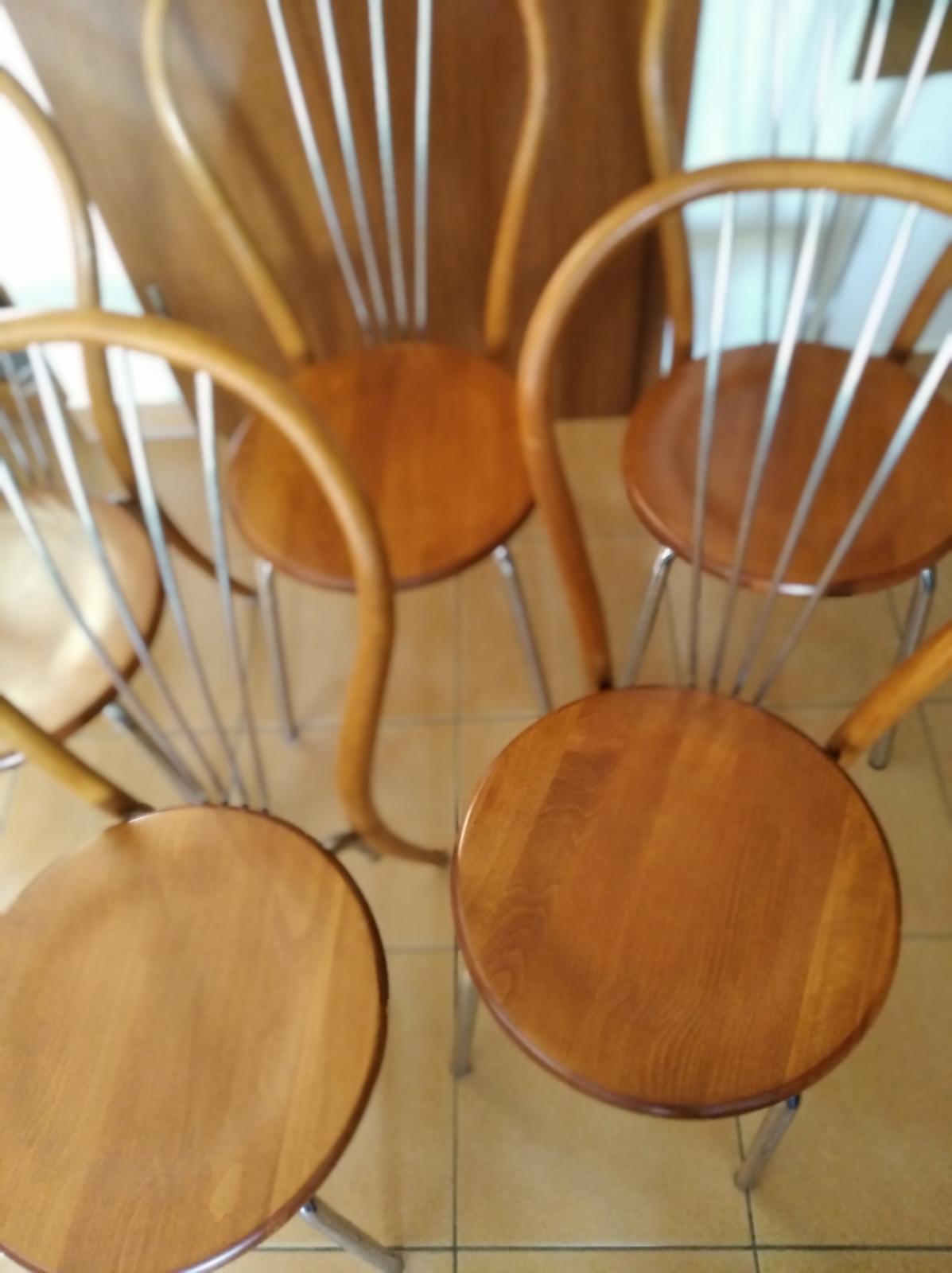 5 x drevená stolička - Obrázok č. 1
