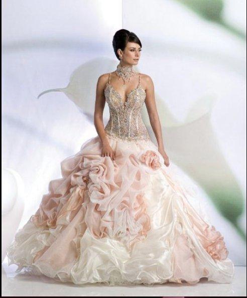 Svatební šaty - růžové i červené až do bordó - Obrázek č. 533