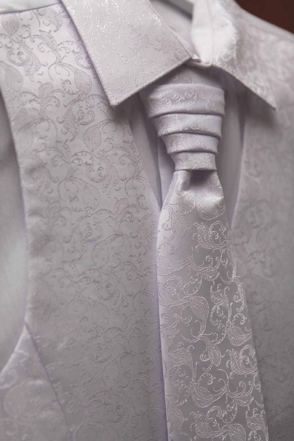 Svadobný set (košeľa, vesta, kravata, vreckovka) - Obrázok č. 1