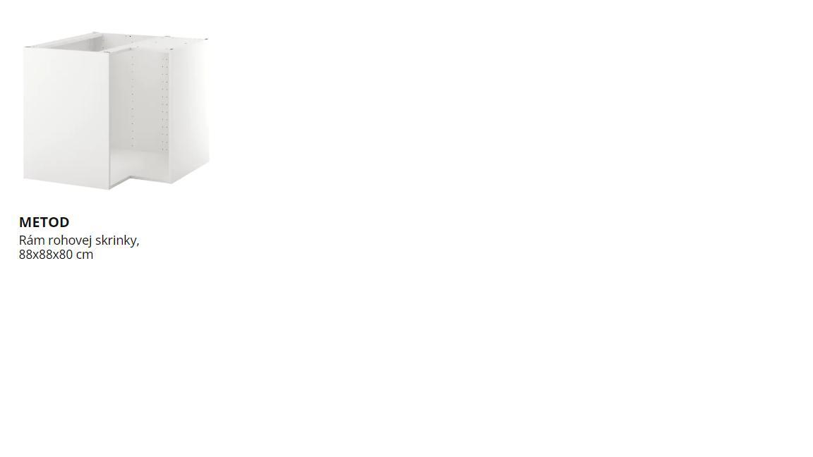 Ahojte, prosím Vás rohový rám spodnej skrinky ikea v kuchyni, ktorý by ste odporučili? - Obrázok č. 1