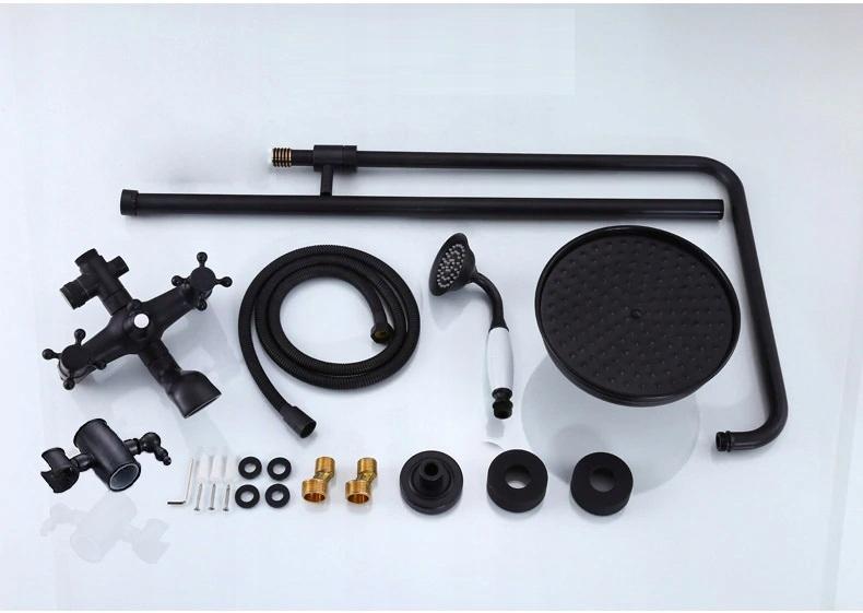 Nová retro čierno medená sprchová batéria s dažďovou sprchou - Obrázok č. 1