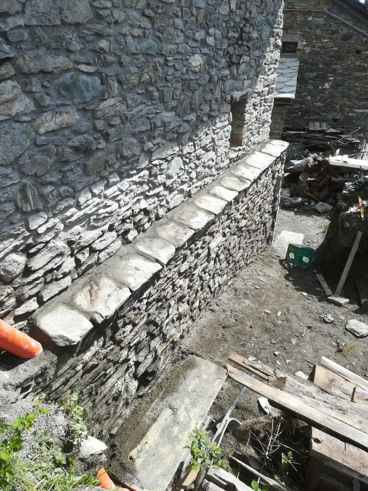 Horsky domcurik - Upravy vonkajsich murov