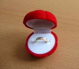 zásnubní prstýnek, příjemné překvapení na loňské dovolené v Turecku (11.6.2005) - do roka a do dne svatba