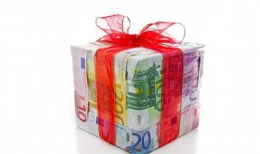 peníze jako balící papír:)