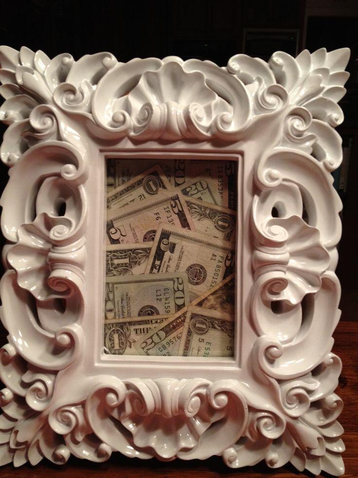 Originálně zabalené peníze jako dárek - do rámečku...
