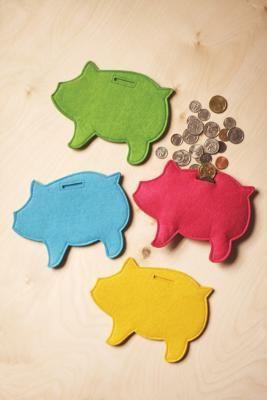 Originálně zabalené peníze jako dárek - do prasátka...