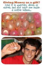 mince v baloncích s vodou