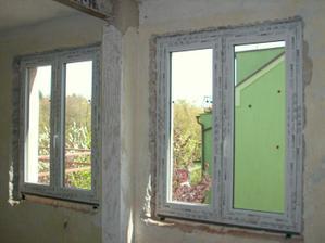 26.4.2012 - Nová okna v obýváku.