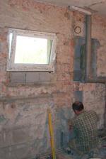 26.4.2012 - Nové okno v koupelně, odpady, voda, odvětrání...