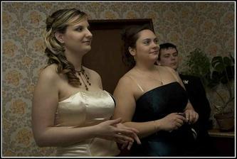 moja mladšia sestra a moja krsná mama
