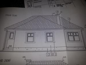 domček spredu budú širšie okná.