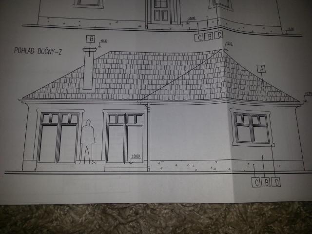 Naša stavba bungalou Salichat - východ s obývačky na terasu.