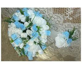 modroulinké růžičky