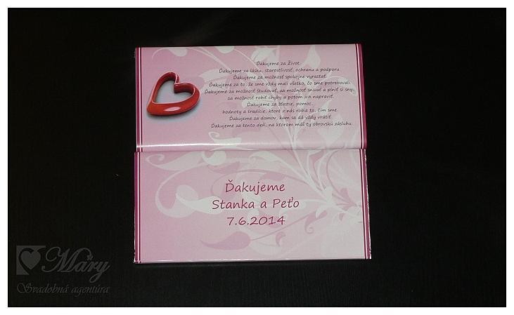 Čokoládka - poďakovanie rodičom - Obrázok č. 4