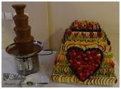 Čokoládová fontána na prenájom,