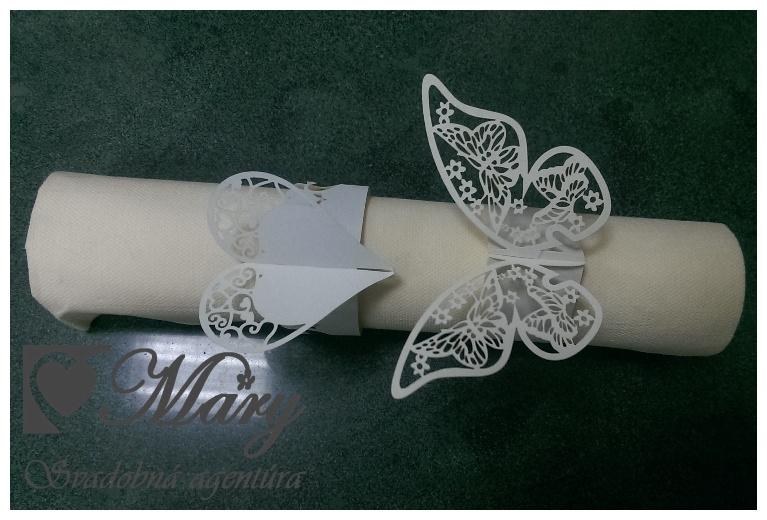 Krúžok na servítky - motýľ - Obrázok č. 2