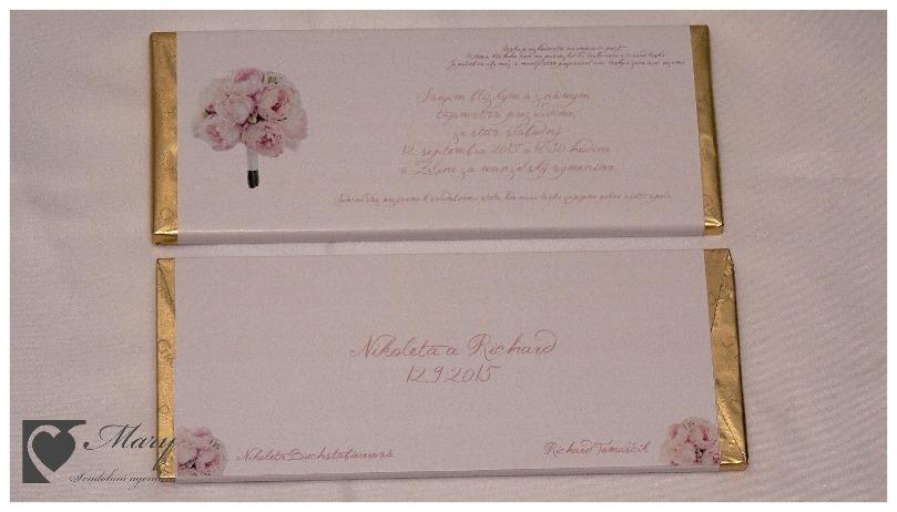 Čokoládové svadobné oznámenia - Obrázok č. 1