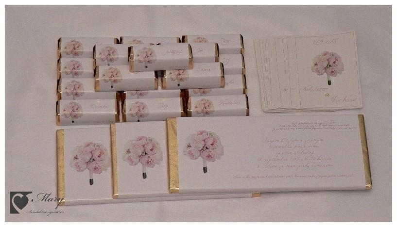 Čokoládové svadobné oznámenia - Obrázok č. 2