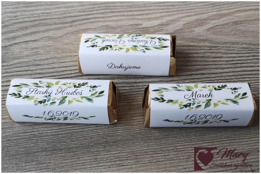 Čokoládka ako darček pre hostí - Obrázok č. 1