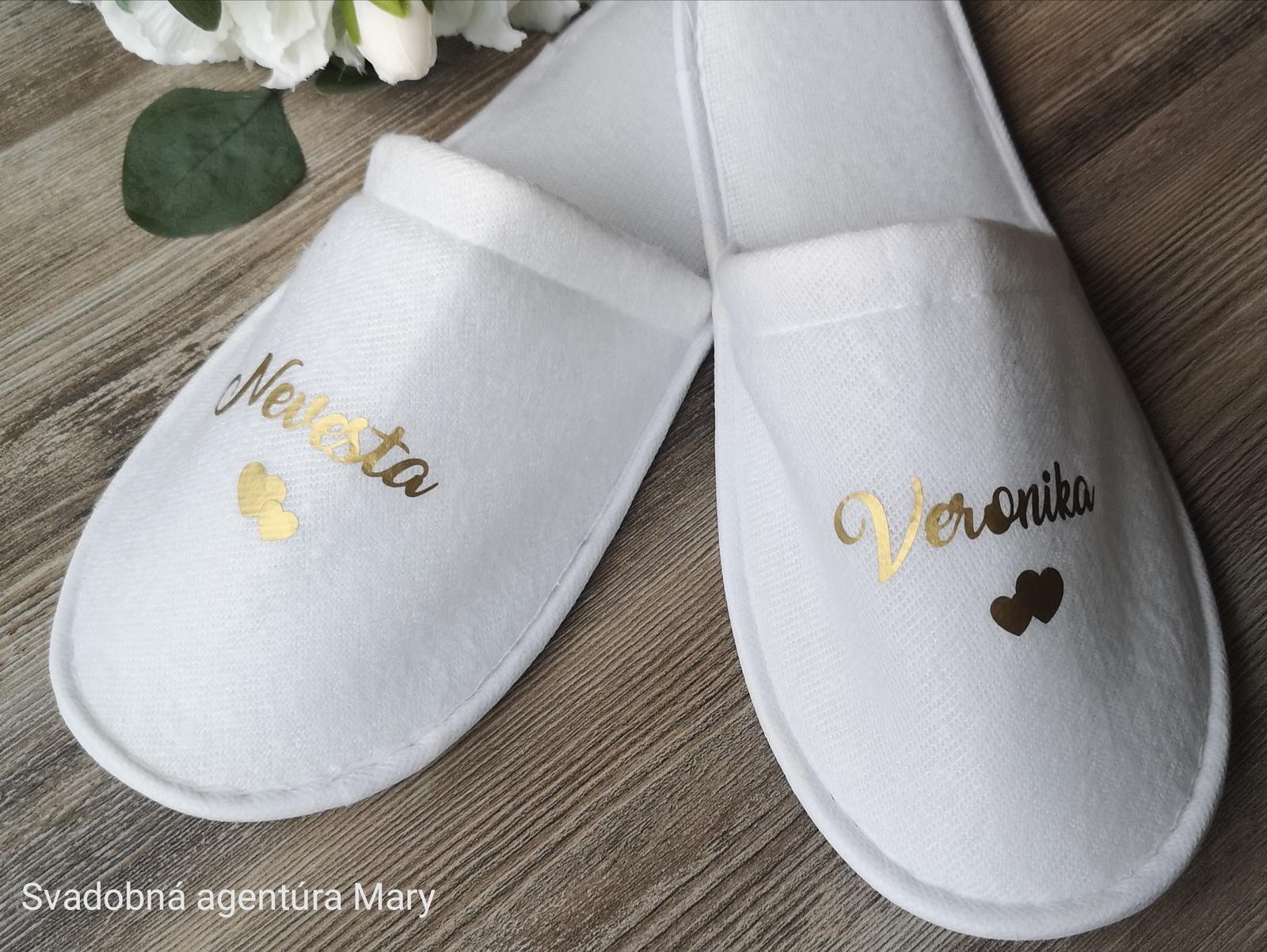 Svadobné papučky  - Obrázok č. 1