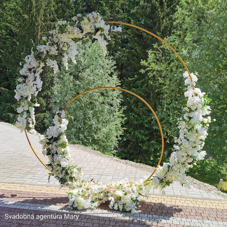 Svadobné dekoračné kruhy - Obrázok č. 1